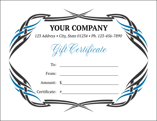 Gift Certificate Template 6